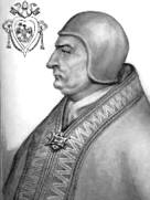 Clement IV and his papal crest