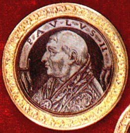 Medallion with profile Paul II
