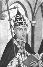 Contemporary portrait of St. Gregory II