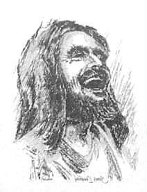 Picture of the laughing Jesus