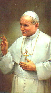 Painting of John Paul II